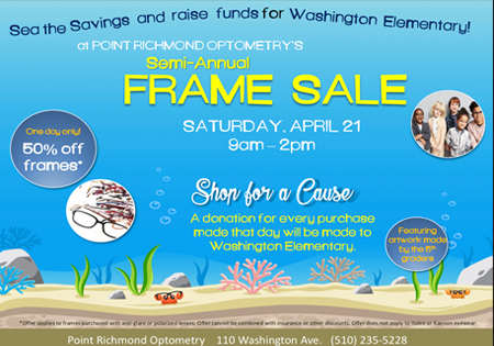 Point Richmond Optometry Fundraiser on April 21st