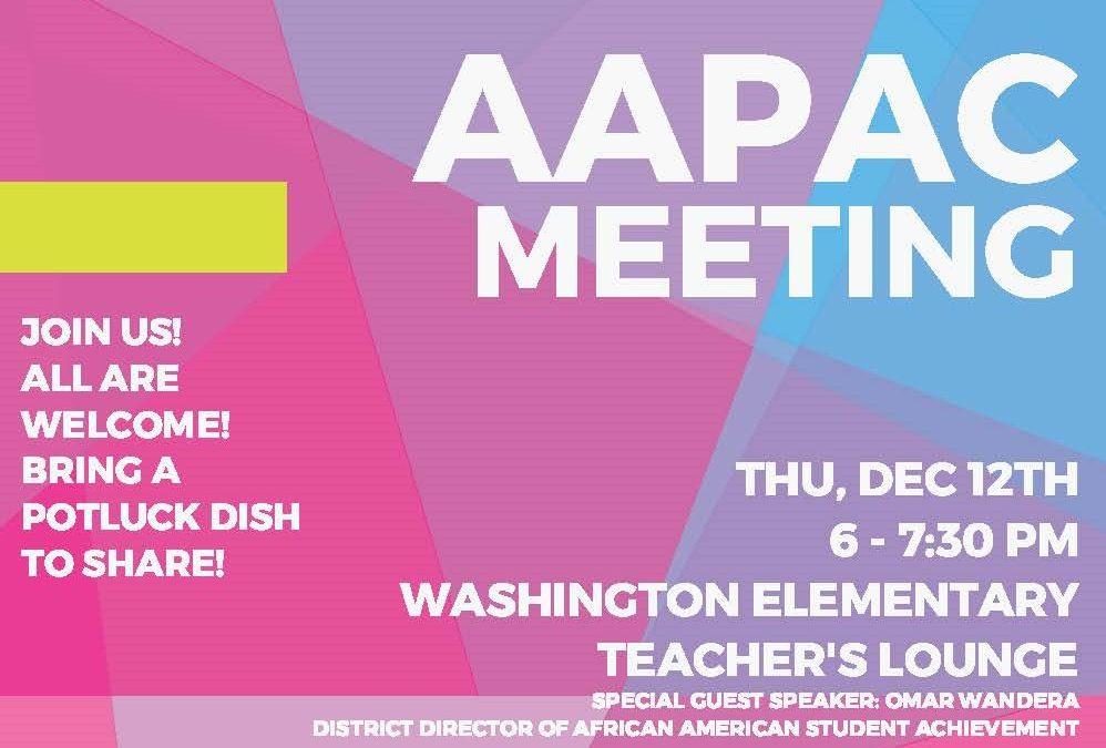 African American Parent Advisory Council Meeting Dec.12
