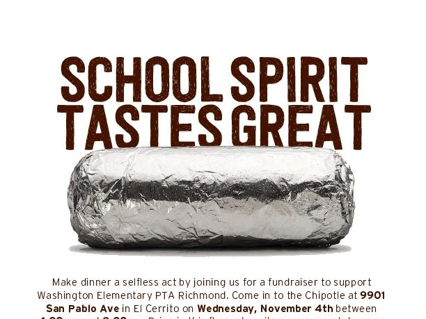 CHIPOTLE Partnership Meal Nov 4, 4-8pm