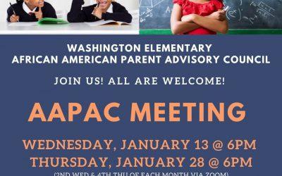 AAPAC Meetings – Jan 13 & 28 – 6pm