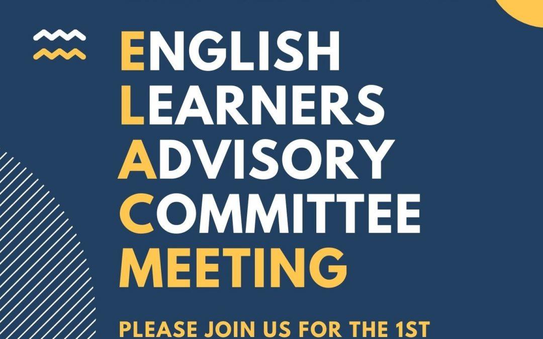 Reunion de ELAC 1/26 o 1/27 – ELAC meeting 1/26 or 1/27