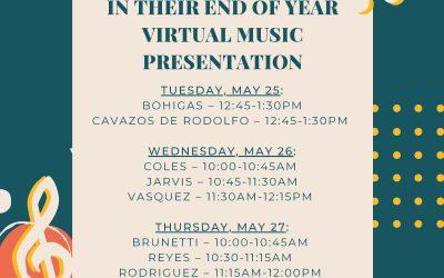 THIS WEEK! K-3rd Music Presentations